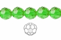 Green Emerald Crystal 12mm Faceted Round Beads 50 pcs.