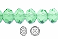 Green Emerald Crystal 3x4mm Faceted Rondelle Beads 100 pcs.