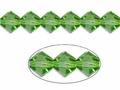 Green Emerald Crystal 4mm Faceted Bicone Beads 120 pcs.