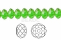 Green Emerald Crystal 4x6mm Faceted Rondelle Beads 100 pcs.