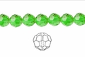 Green Emerald Crystal 6mm Faceted Round Beads 72 pcs.