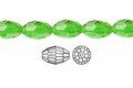 Green Emerald Crystal 6x8mm Faceted Rice Beads 72 pcs.