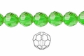 Green Emerald Crystal 8mm Faceted Round Beads 72 pcs.