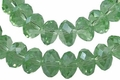 Green Emerald Crystal 8x10mm Faceted Rondelle Beads 72 pcs.