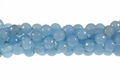 Green Larimar Jade 12mm Faceted Round Beads 15.5""