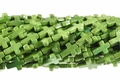 Green Magnesite 12x16mm Cross Shaped Beads 15.5""