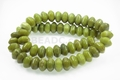 Green Nephrite Jade 13x8mm Faceted Hexagon Disc Beads 15.5""