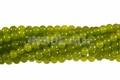 Green Peridot Jade 8mm Round Beads 16""