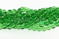 "Green ""Quartz"" 8mm Round Beads 16"""