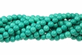 Green Turquoise Howlite Magnesite 8mm Round Beads 15.5""