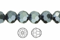 Grey AB Iris Crystal 6mm Faceted Round Beads 72 pcs.