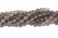 Grey Agate 8mm Faceted Round Beads 15.5""