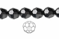 Jet Black Crystal 10mm Faceted Round Beads 50 pcs.