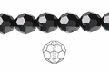 Jet Black Crystal 12mm Faceted Round Beads 50 pcs.