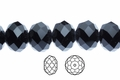 Jet Black Crystal 3x4mm Faceted Rondelle Beads 100 pcs.