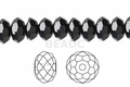 Jet Black Crystal 4x6mm Faceted Rondelle Beads 100 pcs.