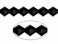 Jet Black Crystal 6mm Faceted Bicone Beads 50 pcs.