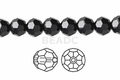 Jet Black Crystal 6mm Faceted Round Beads 100 pcs.