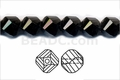 Jet Black Crystal 8mm Faceted Helix Beads 68-72 pcs.
