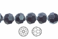 Jet Black Crystal 8mm Faceted Round Beads 50 pcs.