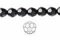 Jet Black Crystal 8mm Faceted Round Beads 72 pcs.