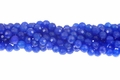 Lapis Candy Jade 8mm Faceted Round Beads 16""