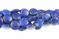 Lapis Howlite Magnesite 18mm Puff Coin Beads 15.5""