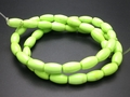 Lemon Turquoise 6x10mm Rice Beads 16""