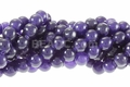 Light Dyed Amethyst 8mm Round Beads 15.5""