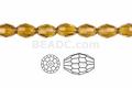 "Light Topaz Crystal 6x8mm Faceted Rice 72 Beads (Approx.22"")"