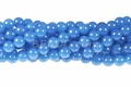 Light Turquoise Candy 8mm Jade Round Beads 15.5""