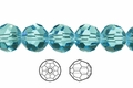 Light Turquoise Crystal 10mm Faceted Round Beads 50 pcs.