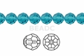 Light Turquoise Crystal 10mm Faceted Round Beads 72 pcs.