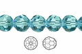 Light Turquoise Crystal 12mm Faceted Round Beads 40 pcs.