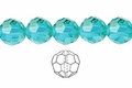 Light Turquoise Crystal 12mm Faceted Round Beads 50 pcs.