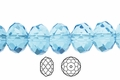 Light Turquoise Crystal 3x4mm Faceted Rondelle Beads 100 pcs.