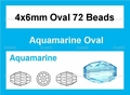 Light Turquoise Crystal 4x6mm Faceted Rice Beads 72 pcs.