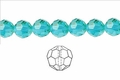 Light Turquoise Crystal 6mm Faceted Round Beads 72 pcs.