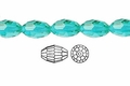 Light Turquoise Crystal 6x8mm Faceted Rice Beads 72 pcs.
