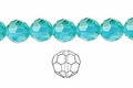 Light Turquoise Crystal 8mm Faceted Round Beads 50 pcs.