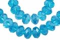 Light Turquoise Crystal 8x10mm Faceted Rondelle Beads 72 pcs.