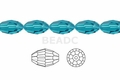 Light Turquoise Crystal 8x12mm Faceted Rice Beads 72 pcs.