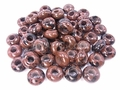 Mahogany Obsidian 8x14mm Gemstone European Charm Style Beads 2 pcs.