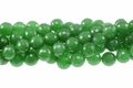 Malachite Jade 12mm Faceted Round Beads 16""
