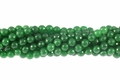 Malachite Jade 8mm Faceted Round Beads 16""
