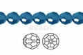 Metallic Blue Crystal 10mm Faceted Round Beads 72 pcs.