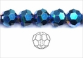 Metallic Blue Crystal 12mm Faceted Round Beads 50 pcs.