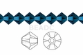 Metallic Blue Crystal 8mm Faceted Bicone Beads 40 pcs.
