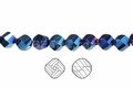 Metallic Blue Crystal 8mm Faceted Helix Beads 68-72 pcs.