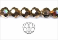 Metallic Gold Crystal 10mm Faceted Round Beads 72 pcs.